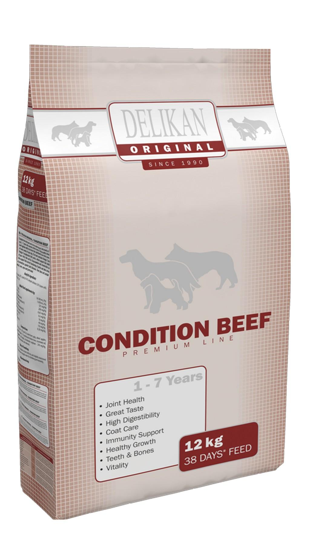 Delikan - ORIGINAL Condition Beef 12kg, 28/14